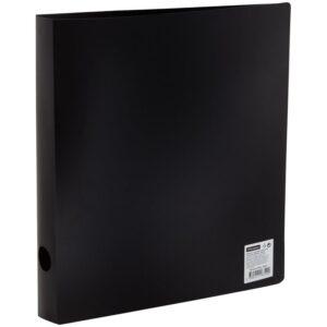 Папка на 2 кольцах OfficeSpace, 40мм, 500мкм, черная