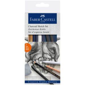 """Набор угля и угольных карандашей Faber-Castell """"Charcoal Sketch"""" 7 предметов, картон. упак."""