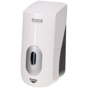 Диспенсер для жидкого мыла OfficeClean Professional, механический, белый, наливной, пенный, 1л