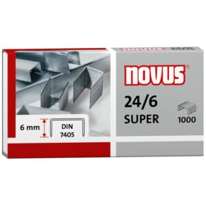 Скобы для степлера №24/6 Novus, оцинкованные, 1000шт.