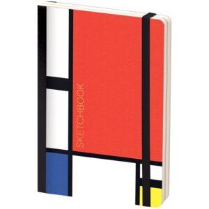"Скетчбук - альбом для рисования 80л. B6 ""Mondrian"", 100г/м2, тв.обл, карман, доп.листы крафт"