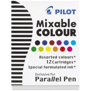 """Картриджи с тушью Pilot """"Parallel Pen"""" 12 цветов, 12шт., картонная коробка"""