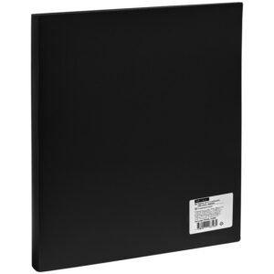 Папка на 4-х кольцах OfficeSpace, 40мм, 500мкм, черная