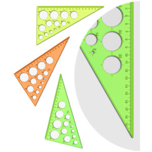 """Треугольник 30°, 19см Стамм """"NEON Cristall"""" с окружностями, ассорти"""