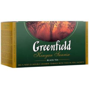 """Чай Greenfield """"Kenyan Sunrise"""", черный, 25 фольг. пакетиков по 2г"""