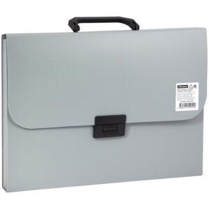 Папка-портфель 13 отделений OfficeSpace, A4, 330*235*40мм, 700мкм, серый