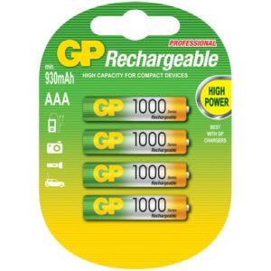 Аккумулятор GP AAA (HR03) 1000mAh 4BL