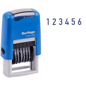 "Нумератор мини автомат Berlingo ""Printer 7836"", 6 разрядов, 3мм, пластик, блистер"