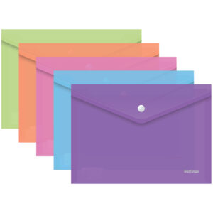 "Папка-конверт на кнопке Berlingo ""Starlight"", А4, 180мкм, ассорти"