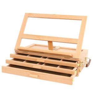 Этюдник-органайзер для пастели Гамма, 3 уровня, 30*13,5*44см, бук