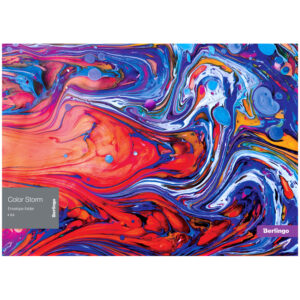 """Папка-конверт на кнопке Berlingo """"Color Storm"""", 180мкм, с рисунком"""
