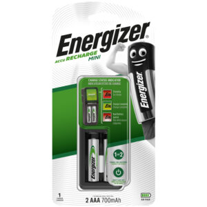 Зарядное устройство Energizer Mini + 2шт. акк. AAA (HR03) 700mAh