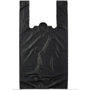 Пакет-майка OfficeClean, ПНД, 37,5+14*57см, 20мкм, черный