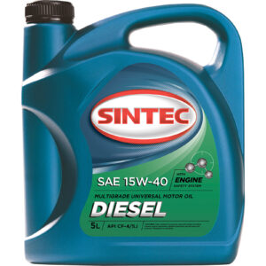 Масло SINTEC Diesel SAE 15W-40 API CF-4/CF/SJ канистра 5л/Motor oil 5liter can
