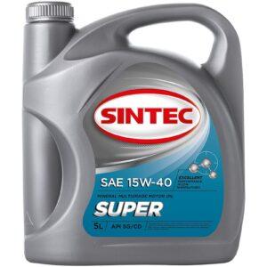 Масло SINTEC Супер SAE 15W-40 API SG/CD канистра 5л/Motor oil 5liter can
