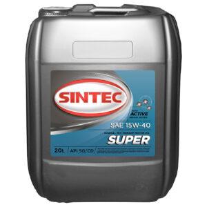 Масло SINTEC Супер SAE 15W-40 API SG/CD канистра 91л 80кг/Motor oil 91liter 80kg can