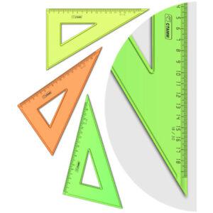 """Треугольник 30°, 18см Стамм """"NEON Cristal"""", ассорти"""
