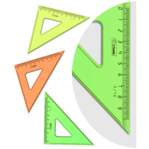 """Треугольник 45°, 9см Стамм """"NEON Crystal"""", ассорти"""