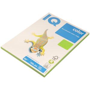 """Бумага IQ """"Color intensive"""" А4, 80г/м2, 100л. (ярко-зеленый)"""