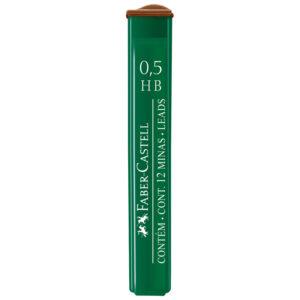 """Грифели для механических карандашей Faber-Castell """"Polymer"""", 12шт., 0,5мм, HB"""