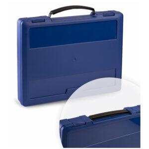 Портфель Стамм с выдвижной ручкой, 270*350*45мм, синий