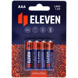Батарейка Eleven AAA (LR03) алкалиновая, BC4