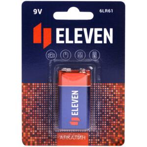 Батарейка Eleven MN1604 (6LR61) Крона, алкалиновая, BC1