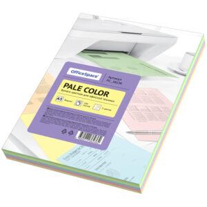 """Бумага цветная OfficeSpace """"Pale Color"""", A5, 80 г/м², 100л., (5 цветов)"""