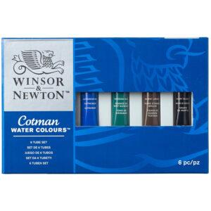 "Акварель Winsor&Newton ""Cotman"" для начинающих, 6цв, 8мл, туба, картон. коробка"