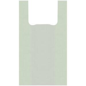 Пакет-майка OfficeClean, ПНД, 28+14*50см, 12мкм, рулон на втулке, 200шт., зеленый