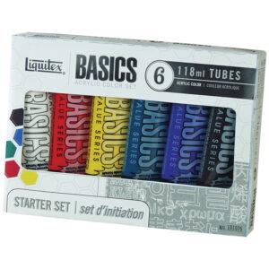 """Набор красок акрил Liquitex """"Basics"""" 118 мл, туба, 6цв., картонная коробка"""