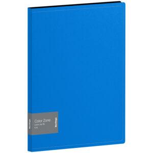 "Папка с зажимом Berlingo ""Color Zone"", 17мм, 1000мкм, синяя"