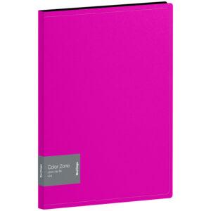 "Папка с зажимом Berlingo ""Color Zone"", 17мм, 1000мкм, розовая"