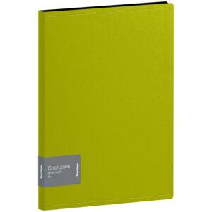 "Папка с зажимом Berlingo ""Color Zone"", 17мм, 1000мкм, салатовая"