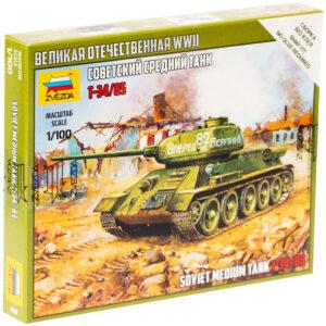 """Модель для склеивания Звезда """"Советский средний танк Т-34/85"""", масштаб 1:100"""