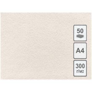 Бумага для акварели 50л. А4 Лилия Холдинг, 300г/м2, молочная, крупное зерно
