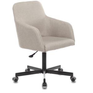 Конференц-кресло Бюрократ CH-380M/402CAPPU, М, ткань миндальный капучино