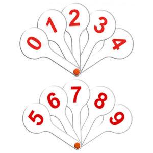 Веер-касса цифр от 0 до 9, Стамм