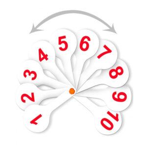 Веер-касса цифр от 1 до 20 прямой и обратный счет, Стамм