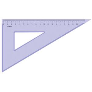 Треугольник 30°, 18см Стамм, прозрачный тонированный