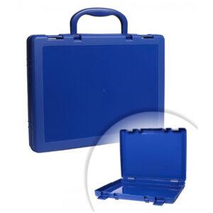 Портфель-кейс 1 отделение Стамм, A4, 275*375*57мм, на защелках, синий