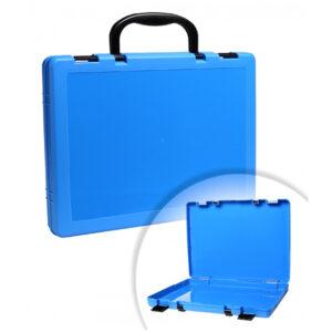 Портфель-кейс 1 отделение Стамм, A4, 275*375*57мм, на защелках, голубой