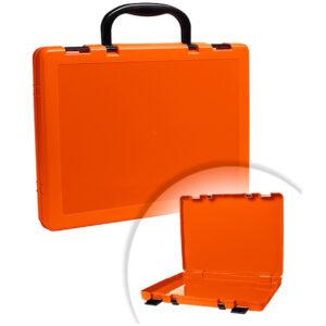 Портфель-кейс 1 отделение Стамм, A4, 275*375*57мм, на защелках, оранжевый