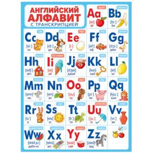 """Плакат настенный Империя поздравлений """"Английский алфавит"""", 440*600мм"""