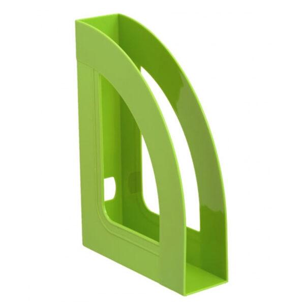 """Лоток для бумаг вертикальный Стамм """"Респект"""", зеленый kiwi"""