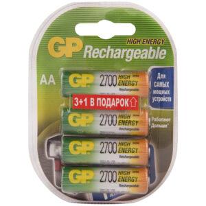 Аккумулятор GP AA (HR06) 2650mAh 4BL (промо 3+1)