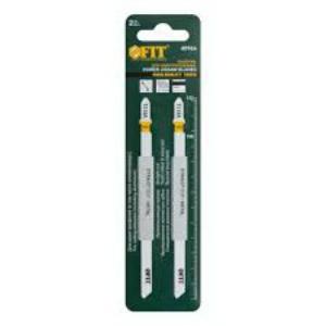 Полотно T123 х 2 шт. по металлу для электролобзика (74/100 мм; HSS) FIT HQ 40978