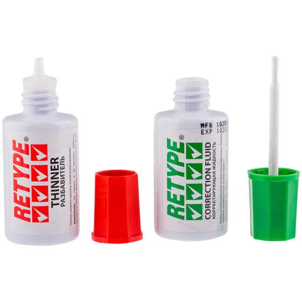 Корректирующая жидкость+разбавитель Retype, 2*20мл