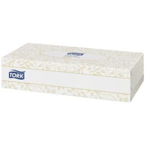 """Салфетки бумажные для лица Tork """"Premium""""(F1), 2-слойные, 20,8*20см, белые, ультрамягкие, 100шт."""
