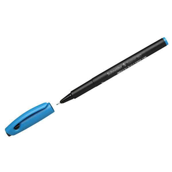 """Ручка капиллярная Schneider """"Topliner 967"""" голубая, 0,4мм"""